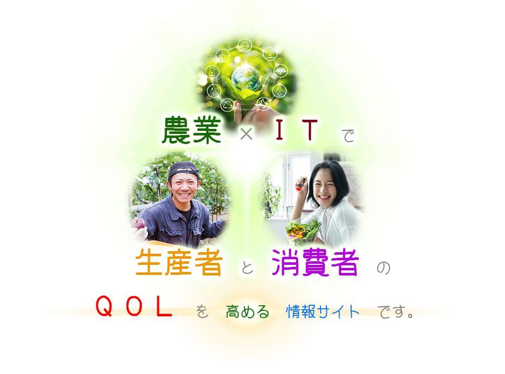 農業×ITで生産者と消費者のQOLを高める除法サイト